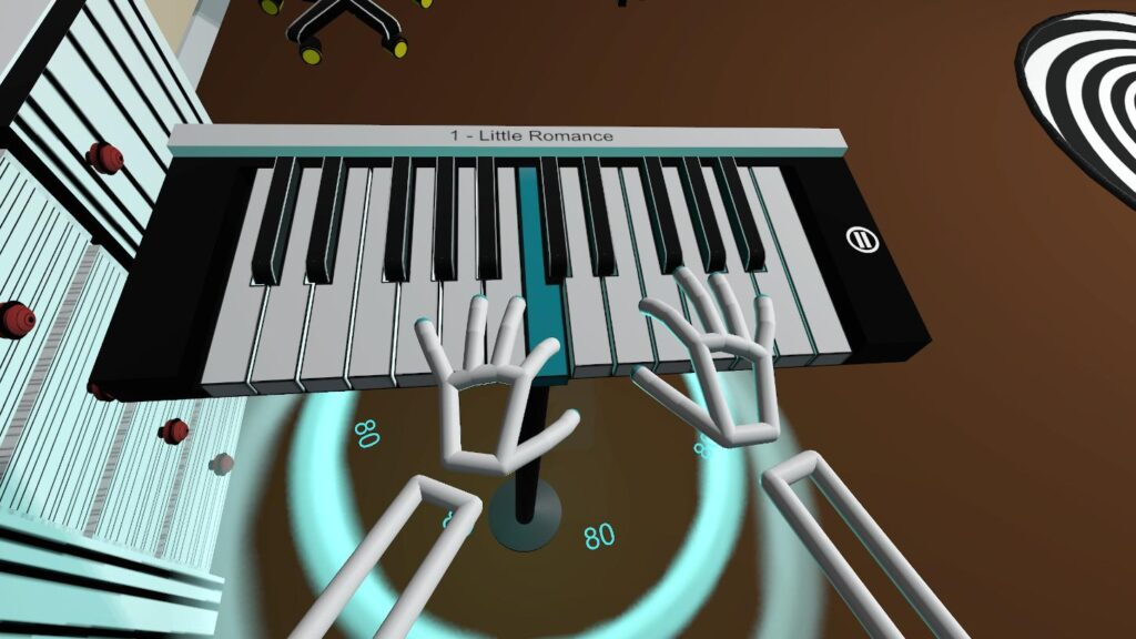 The better you play the higher score you get - VR Pianist game