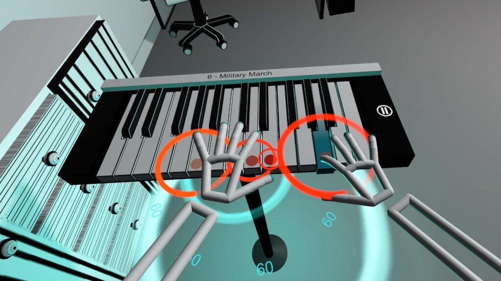 Circle particle effect in Unity VR game - VR Pianist