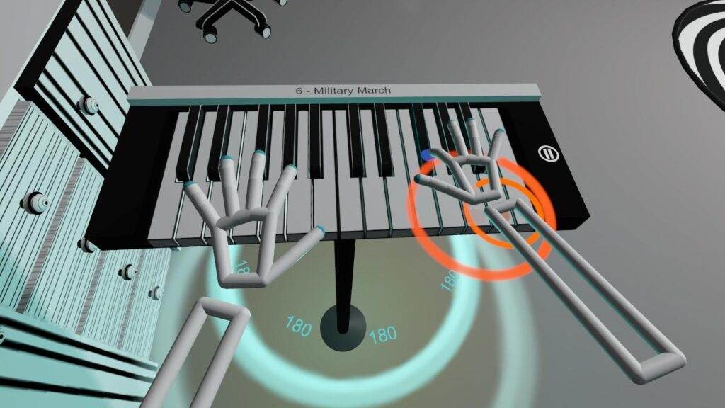 Song in music game VR Pianist