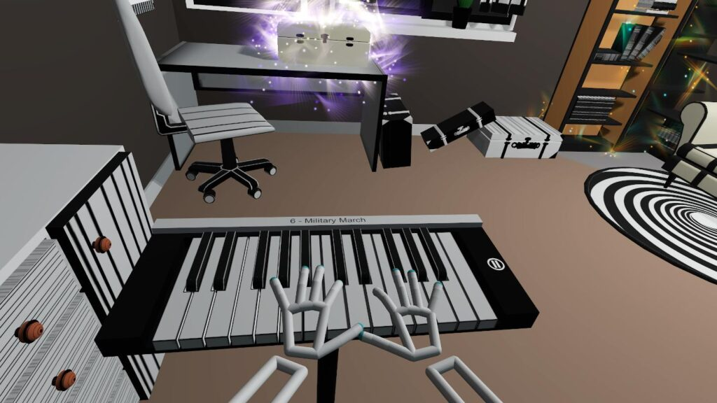 Music game in virtual reality - Military March in VR Pianist