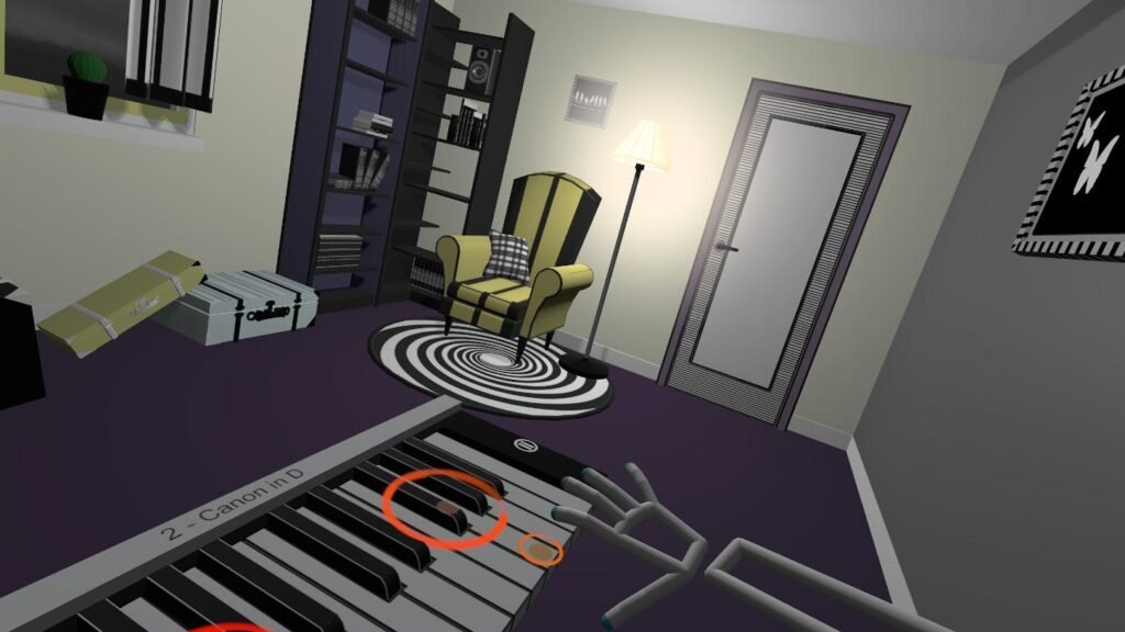 Colors in piao game VR Pianist