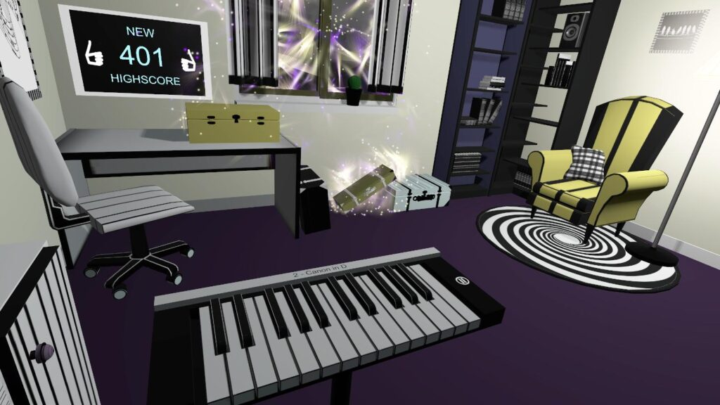 Colorful game VR Pianist