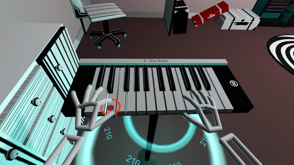 Piano Game - VR game on virtual piano