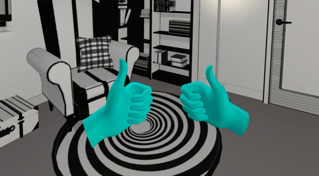 Hands Up - finger tracking in virtual reality