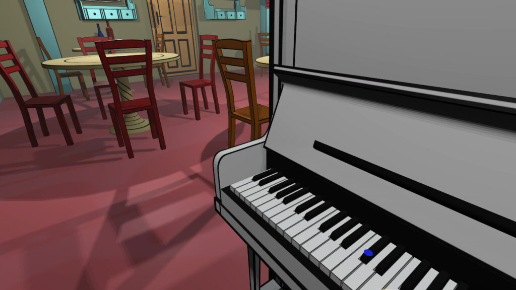 Colourful world of VR Pianist