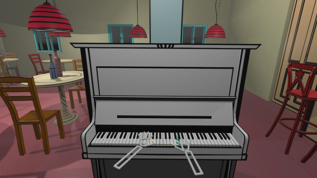 VR Pianist - piano in virtual reality