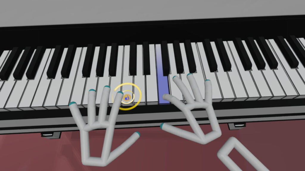 Pressing key until it is white again in VR Pianist game