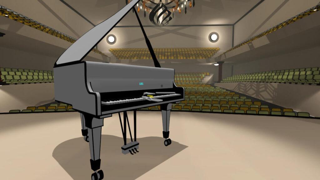 Yellow world of VR Pianist