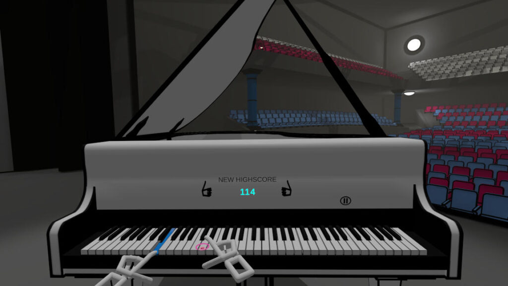 VR Pianist game using Leap Motion or handtracking